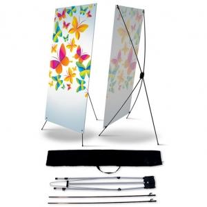 Мобильный стенд «X-баннер» (паук) 1м65см*65см