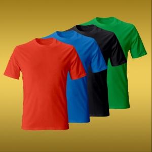 Футболки цветные 100% хлопок