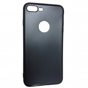 Iphone 6 плюс кожа гладкая черный