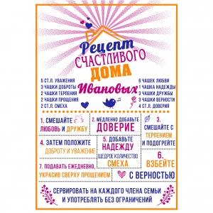 Постер достижений рецепты счастливого дома
